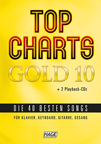 Top Charts Gold 10 + 2 CD Playback con Felix jaehn, Taylor Swift, Andreas Bourani, Cro, Rihanna, Sunrise Avenue, Wiz Khalifa, Robin Schulz, Sarah Connor, Lena, ed Sheeran e affini.