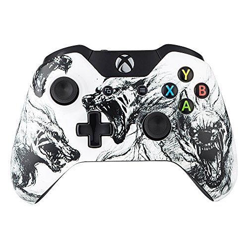 eXtremeRate? Wolf Soul Top Front Housing Shell Case Faceplate Replacement Parts for Xbox One Controller by eXtremeRate