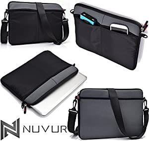 Grey|Cover Case Shoulder Bag W/Strap Asus Transformer Book T100TA-H1-GR 10.1