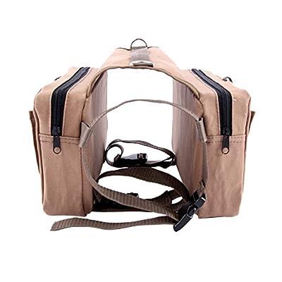 Colorpet Cotton Dog Pack Outdoor Adjustable Saddle Bag Rucksack Backpack Camping Travel Hiking for Dogs