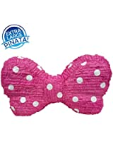 Extra Large Pink Bow with White Polka Dots Pinata