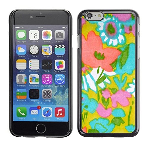 Art Textile Pattern Mom Mother Summer Phone Case [Customizable by Buyers] [Create Your Own Phone Case] Slim Fitted Hard Protector Cover for Iphone 6