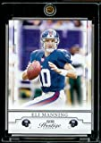 2008 Playoff Prestige # 64 Eli Manning New York Giants NFL Football Card in Screw Down