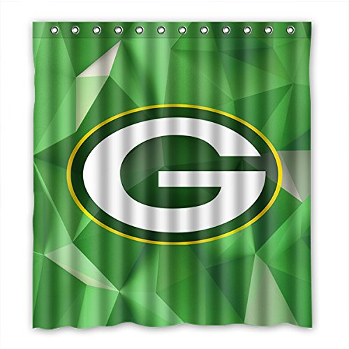 DONGMEN Custom Green Bay Packers Shower Curtain Waterproof Polyester 66 ·  Football