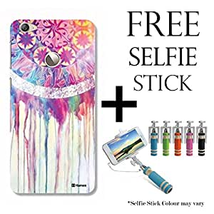 Hamee TM Printed Hard Back Skin Case Cover For Xiaomi Redmi 3s Prime Cover with Selfie Stick - Combo 3