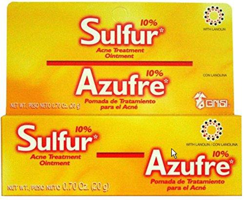 20 G GRISI SULFUR OINTMENT SULPHUR CREAM ACNE BLACKHEAD SPOT CYST ECZEMA TREATMENT (Sulphur Cream compare prices)