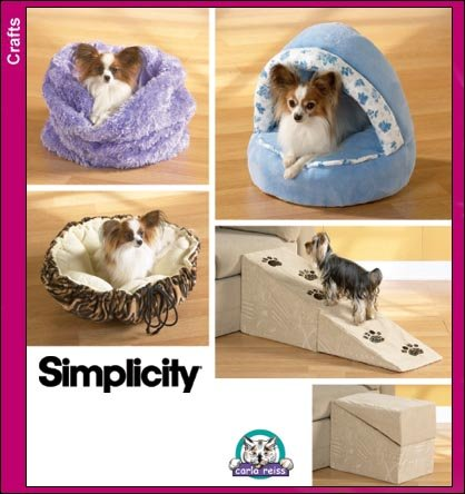 Simplicity 3906 Sew Pattern DOG BEDS and RAMP