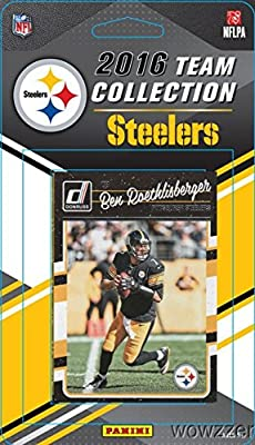 Pittsburgh Steelers 2016 Donruss NFL Football Factory Sealed Limited Edition 12 Card Complete Team Set with Ben Roethlisberger, Le'Veon Bell, Legend TERRY BRADSHAW & Many More! Shipped in Bubble Mailer