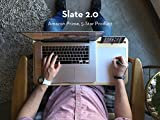 Slate 2.0 Mobile LapDesk - The Essential Laptop Accessory for Students, Professionals, Designers, and Gamers (With Whiteboard, For 15 inch Laptops, Premium Light Bamboo)