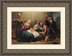 The Nativity Framed Print by Des Coudres Framed