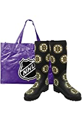NHL Boston Bruins Ladies Black Enthusiast Boots