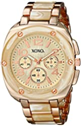XOXO Women's XO5647 Bone and Rose Gold Bracelet Analog Watch