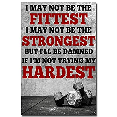 Bodybuilding Fitness Motivational Art Silk Fabric Poster