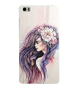 Long Hair Girl Cute Fashion 3D Hard Polycarbonate Designer Back Case Cover for Xiaomi Mi 5 :: Redmi Mi5