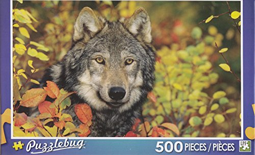 Puzzlebug 500 Piece Puzzle ~ Autumn Gray Wolf - 1