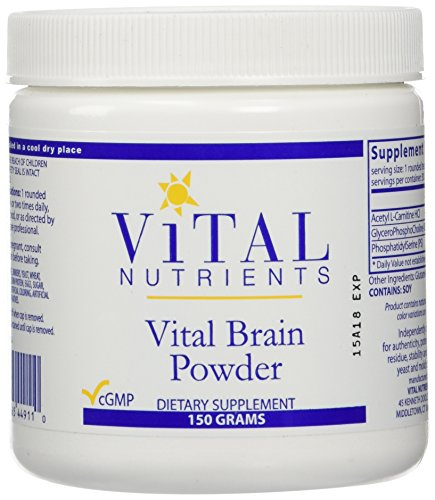 Vital Nutrients Vital Brain Powder - Supports Mental and Behavioral Health,150 Gram