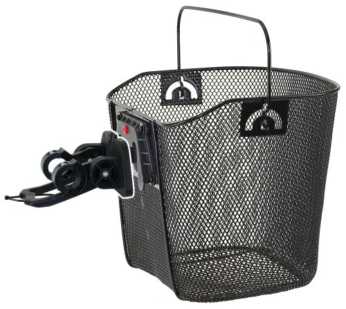 M-Wave Wire Bicycle Basket With Clip-on Bracket