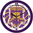 "Weber State Wildcats Suntime 12"" Dimension Glass Crystal Wall Clock - NCAA College Athletics"
