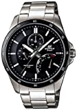 Stainless Steel Edifice Black Dial Quartz Date Retrograde Day