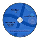 Windows 10 Pro & Home Install Reinstall Upgrade Restore Repair Recovery 64 bit x64 All in One Disc DVD