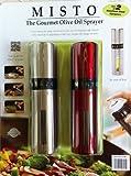Misto Gourmet Olive Oil Sprayer (Set of 2) Silver & Red
