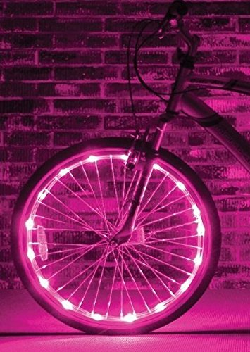 Brightz, Ltd. Pink Wheel Brightz LED Bicycle Light