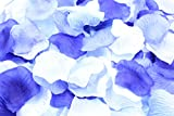 フラワーシャワー 造花 花びら 1200枚セット / ハピネス ウェディング ビューティフル パーティ 【 12バリエーションから選べます 】 (エターナル ブルー グレイス)
