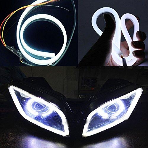 Vheelocity 85913 White Custom Shape Motorcycle Daytime Running Light for All Bikes