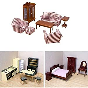 Melissa And Doug Deluxe Dollhouse Furniture Bundle Includes Living Room Kitchen