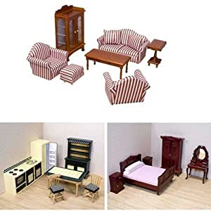 Melissa and doug deluxe dollhouse furniture for Living room furniture bundles