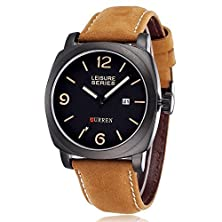 buy Gosasa Curren 8158 Chronometer Quartz Leisure Fashion Watch With Leather Strap
