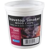 Wood Smoking Chips - 1 Pint of Bourbon Soaked Oak Wood Chips (Fine) for Smokers - 100% Natural