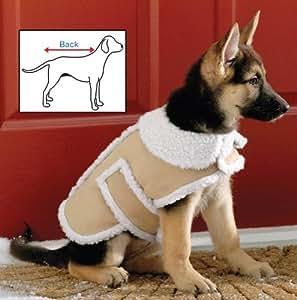Amazon.com : Shearling Fleece Dog Winter Coat Large : Pet