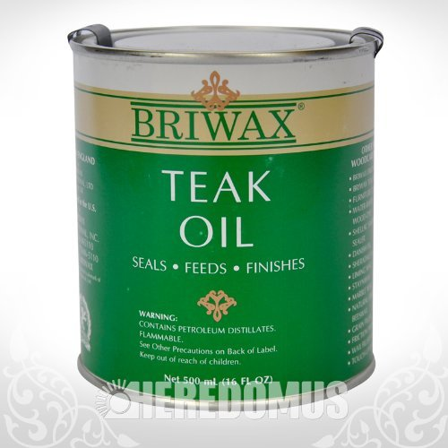 Briwax Teak Oil, 500 mL/16 oz. (Outdoor Wood Furniture Oil compare prices)