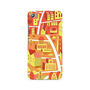 Motivatebox- Yellow Town Premium Printed Case For Micromax Canvas Fire 4 A107 -Matte Polycarbonate 3D Hard case Mobile Cell Phone Protective BACK CASE COVER. Hard Shockproof Scratch-