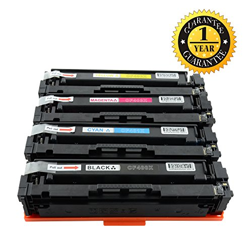 INK E-SALE CF400X CF401X CF402X CF403X 201X Toner Cartridge Compatible for HP Color LaserJet Pro M252n, M252dw, MFP M277n, MFP M277dw, High Yield 4 Pack (Black, Cyan, Yellow, Magenta)