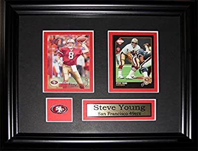 Steve Young San Francisco 49ers 2 card frame