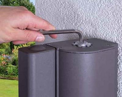 Home & Garden 300640614-HE Seitenmarkise Gestell anthrazit/Textigewebe creme H200xL300cm ausziehbar von Hecht auf Gartenmöbel von Du und Dein Garten