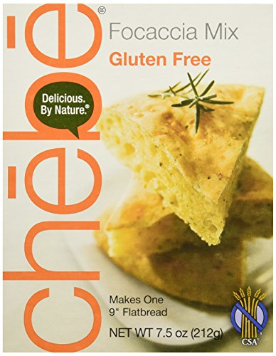 Chebe Bread Focaccia Flat Bread Mix, Gluten Free, 7.5-Ounce Bags (Pack of 8) (Thick Bread Bags compare prices)