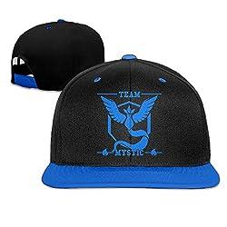 YOKOあさの ユニセックス ツートン クール UVカット 神秘的なスーパーチーム 平らつばキャップ ブルー