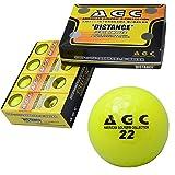 LEZYNE(レザイン) AGC 高弾性高反発2ピースゴルフボール 高輝度ネオンボール1ダース(12個入り) ネオンイエロー AGBA-4714 YE