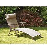 Havana Folding Sun Lounger - Bronze Cushion