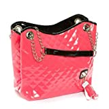 Pink Lillian Quilted Chain Strap Purse