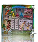 Disney Tinkerbell Fairies 10 Cosmetic, Beauty Gift Set in Shiny Sparkly Hologram Box Includes: Makeup, Nails, Polish & Makeup Pouch