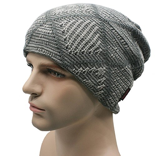 ALLMILL Men's and women's Knitted Hat Fall/Winter ski Warm Hat Add wool Hat (Light Grey) (Jamaica Pants compare prices)