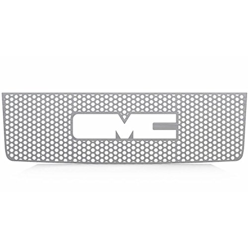 Brushed Stainless Circle Punch Grille Grill Insert Trim fits: 2007-2013 GMC Sierra LD - Ferreus Industries - TRK-129-03-Brushed (Gmc Grill 2010 compare prices)