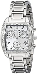 Bulova Women's 96R163 Stainless Steel Bracelet Watch with Diamond Accents