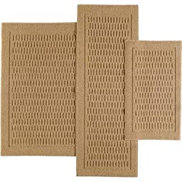 Mainstays Dylan Nylon 3-Piece Accent Rug Set, Biege