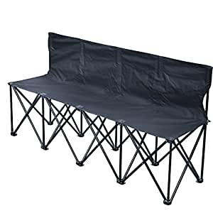 Strong Camel Folding Portable Team Sports Sideline Bench 4 Seater Outdoor