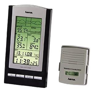 """Hama Elektronische Wetterstation """"EWS-800"""", mit Hygrometer/Barometer/Thermometer und Anzeige auf Außensensor"""